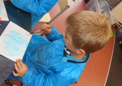 Island Bay Childcare kids painting