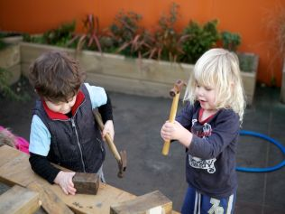 Island Bay Childcare playing